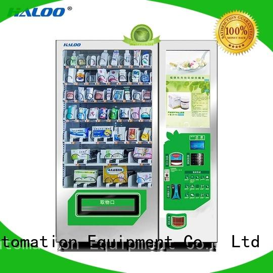 Haloo touch screen healthy vending machines factory for merchandise