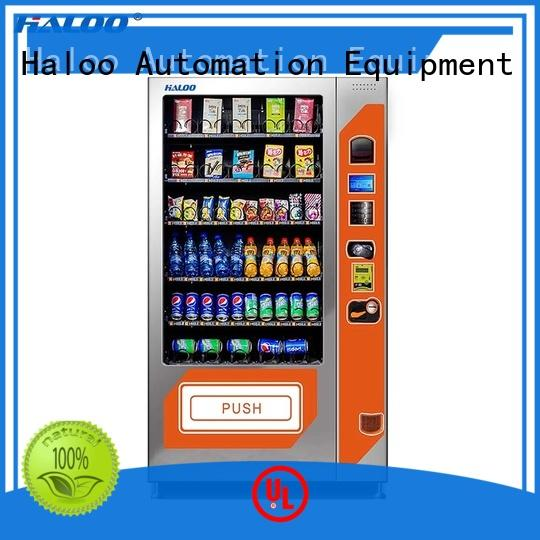 Haloo high quality soda snack vending customized for drink