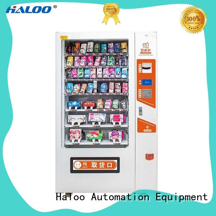 Haloo automatic condom machine directly sale for adults