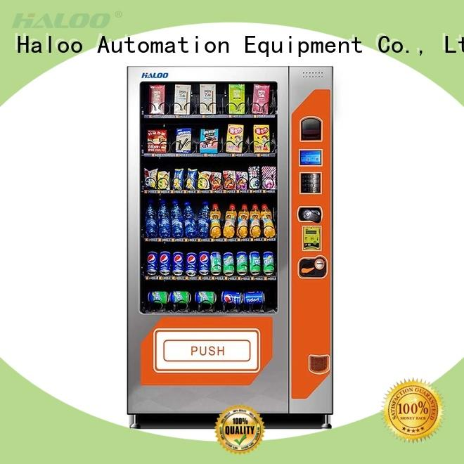 Haloo automatic beverage vending machine customized for food