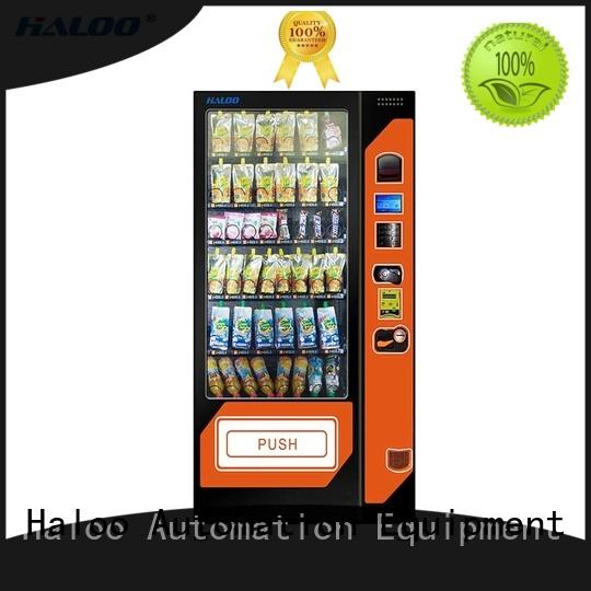 spring aisle cool drink vending machine high capacity for snack Haloo