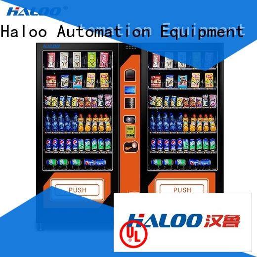Haloo high capacity combo vending machines wholesale for food