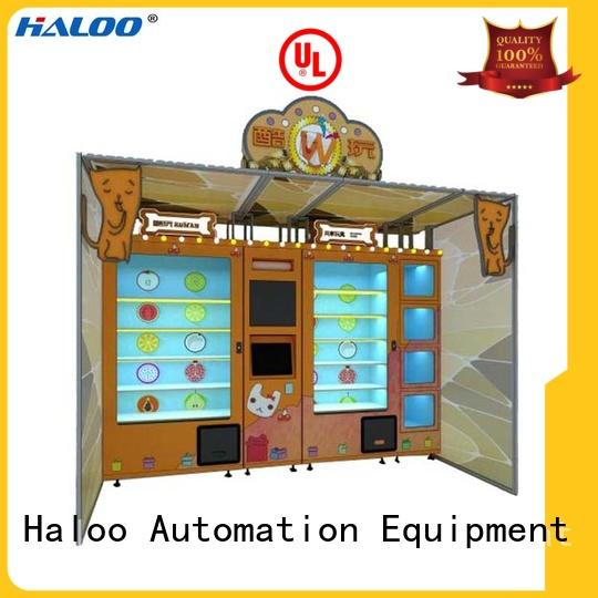 touch screen reverse vending machine design for lucky box gift Haloo