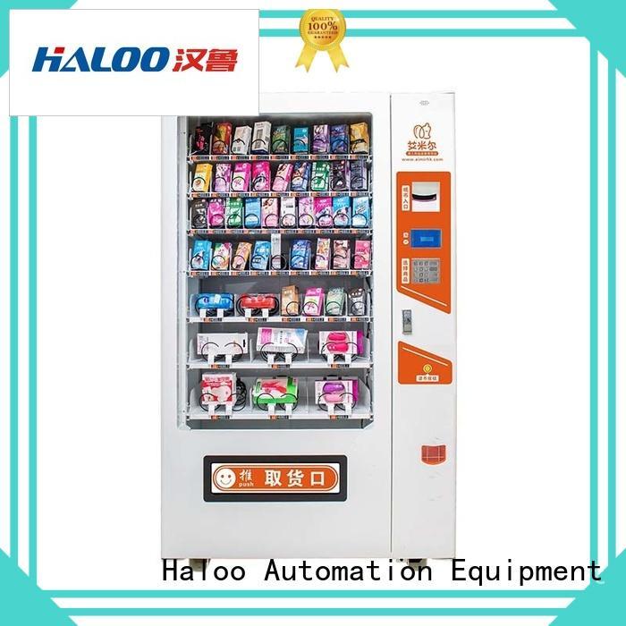 Haloo condom dispenser supplier for shopping mall