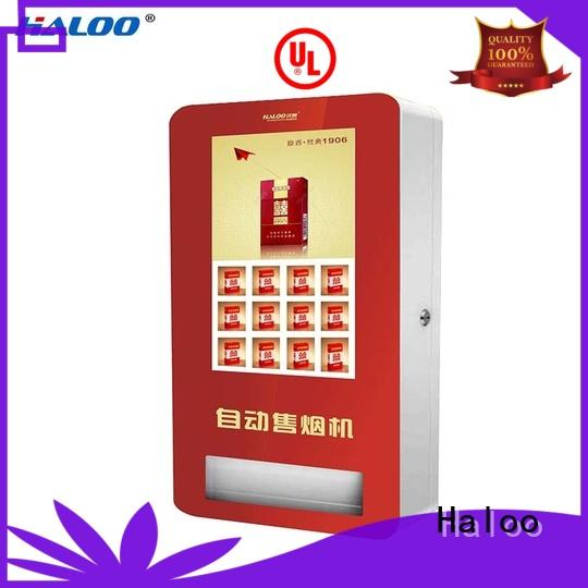 Haloo cost-effective vending kiosk smart remote management for purchase