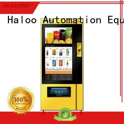 Haloo touch screen vending machine price series for shopping mall