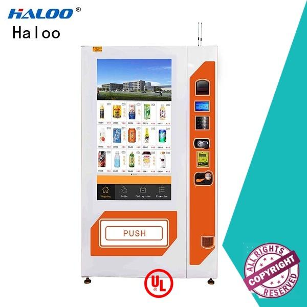 Haloo 55-inch touch screen snack vending machine wholesale for shopping mall