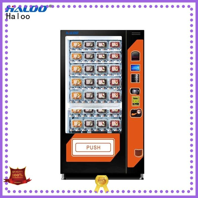 Haloo water vending machine design for fragile goods