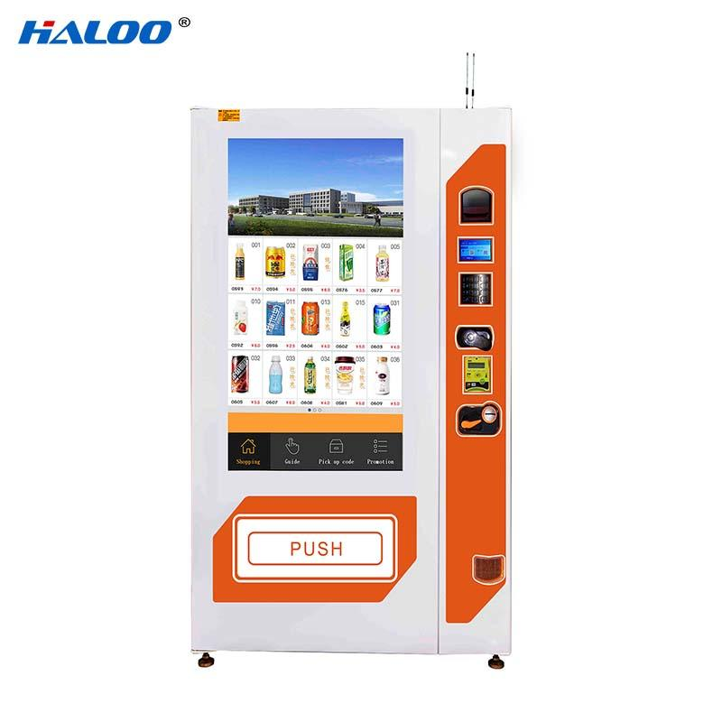 Haloo GPRS remote manage soda vending machine wholesale for shopping mall-2