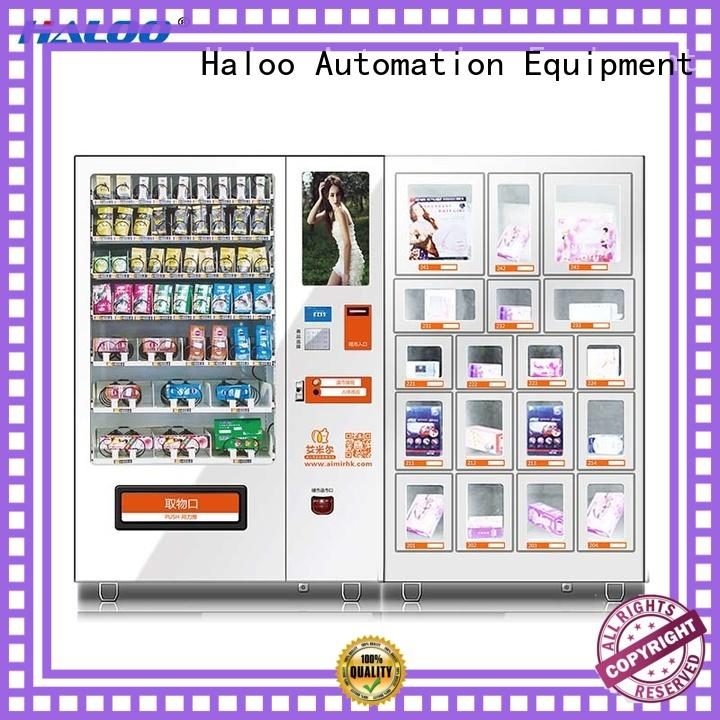 Haloo customized language condom dispenser factory direct supply for shopping mall