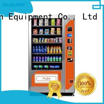 Haloo beverage vending machine customized for snack