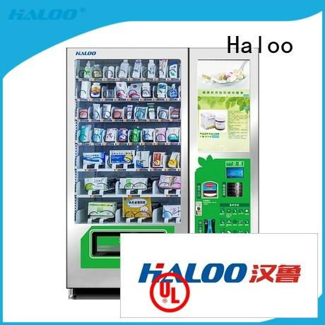 Haloo touch screen drink vending machine design for shopping mall