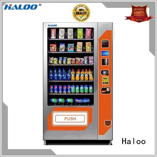 Haloo compact combo vending machines wholesale for food