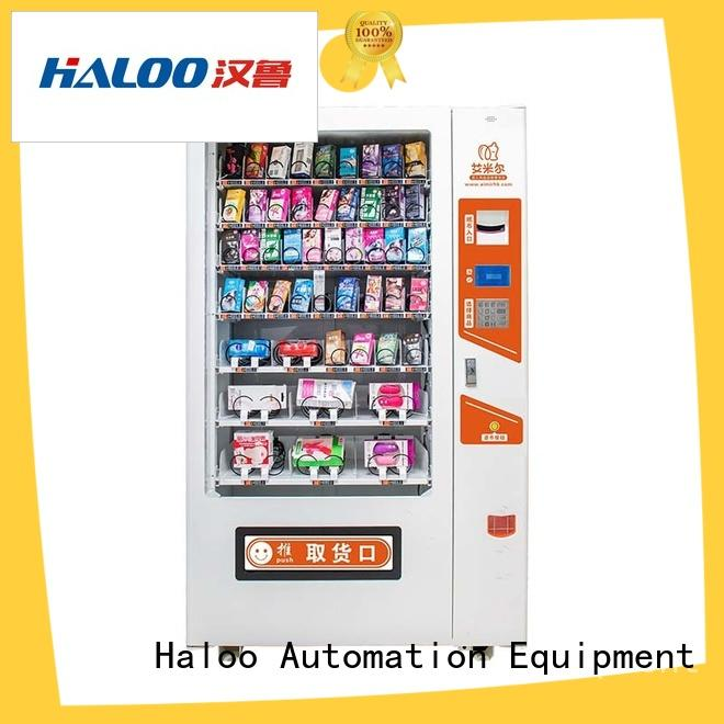Haloo ads touch screen condom dispenser machine for shopping mall