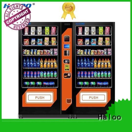 Haloo ads screen soda snack vending design for drink