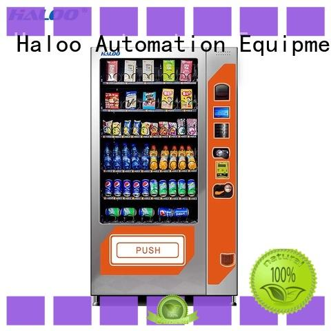 Haloo beverage vending machine customized for food