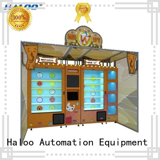 Haloo smart remote management lucky box vending machine design for purchase