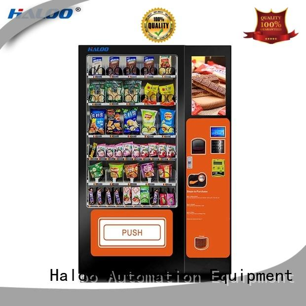Haloo professional snack vending machine factory for shopping mall