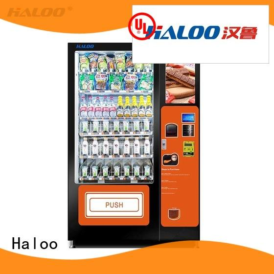 Haloo GPRS remote control food vending machines for sale for fragile goods