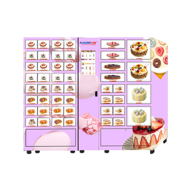HALOO fresh food cake pastry refrigerated lattice cabinet large-capacity freezer fresh-keeping cabinet vending machine