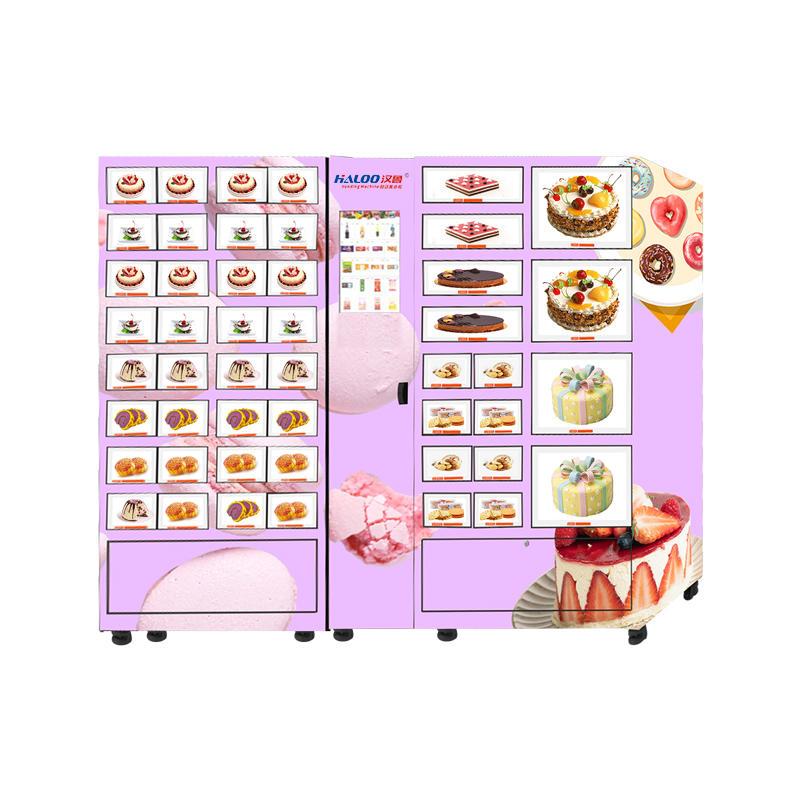 HALOO fresh food cake pastry refrigerated lattice cabinet large-capacity freezer fresh-keeping cabinet vending machine