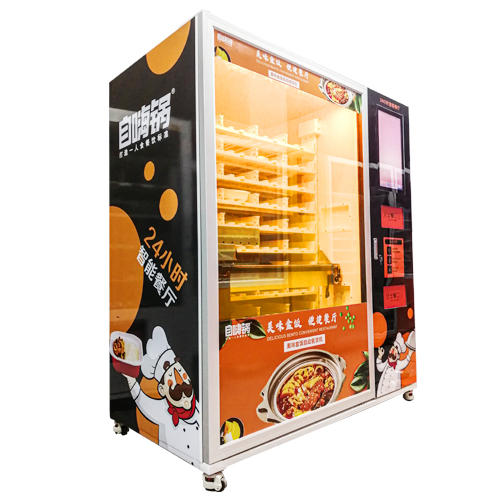 Vending Machine for Fresh Frozen Meal Fast Food with Microwave Heating