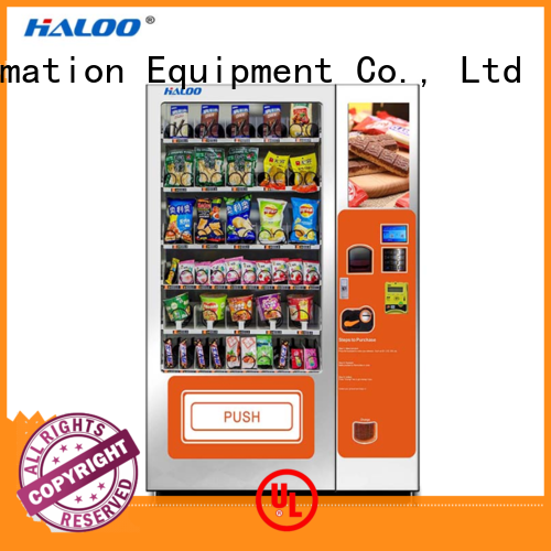 Haloo professional coffee vending machine design for snack