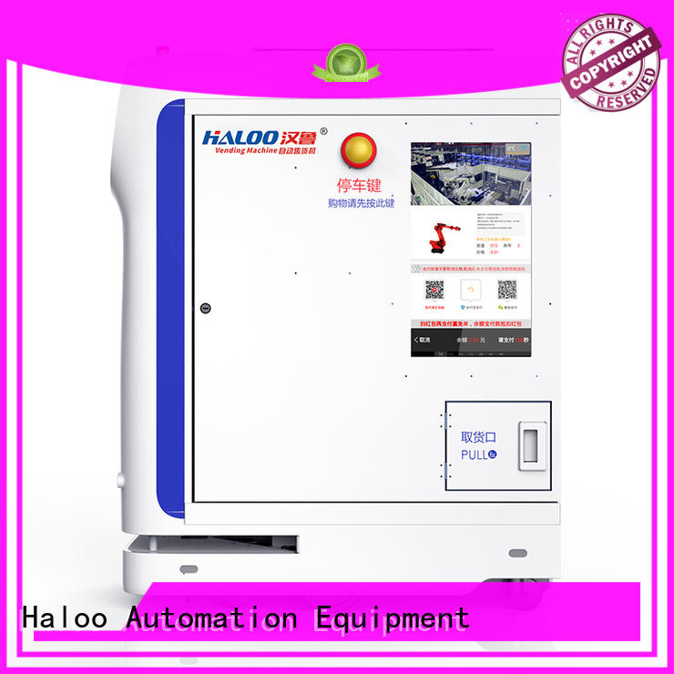 Haloo touch screen lucky box vending machine factory direct supply for purchase