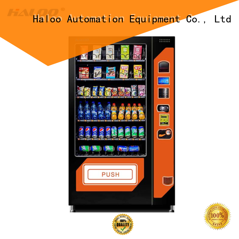 Haloo coffee vending machine customized for food