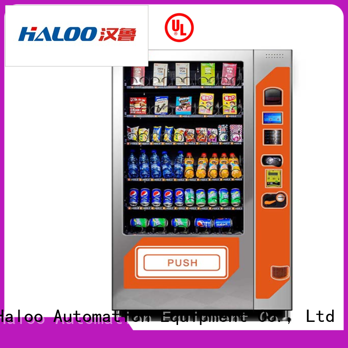 Haloo ads screen combo vending machines design for drink