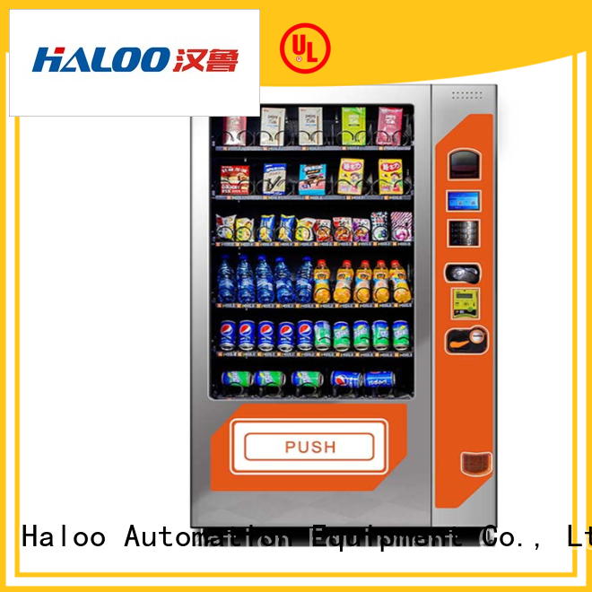 Haloo anti-theft cool drink vending machine for food