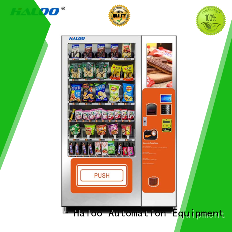 Haloo combo vending machines customized for snack