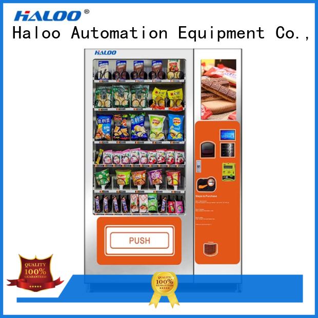 Haloo automatic cold drink vending machine customized for snack