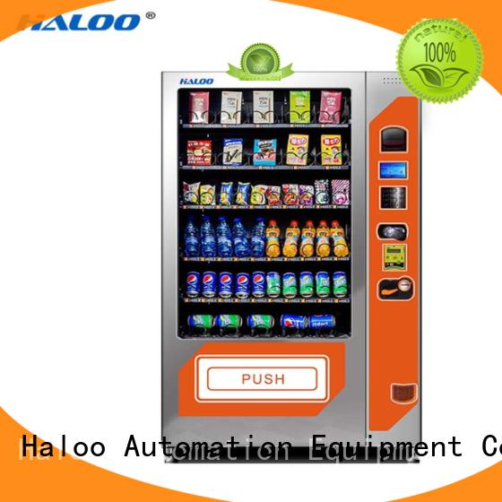Haloo convenient cold drink vending machine manufacturer for food